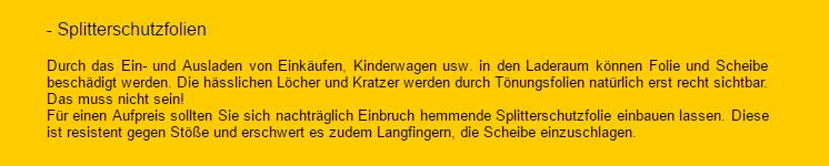 Splitterschutzfolien in Fahrenbach